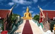 泰国苏梅岛 富贵金佛壁纸 文化之旅地理人文景观壁纸精选 第二辑 人文壁纸