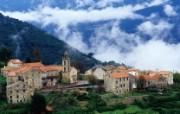 法国 科西嘉岛小村壁纸 文化之旅地理人文景观壁纸精选 第二辑 人文壁纸