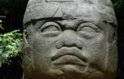 墨西哥 奥尔梅克石头头像壁纸 文化之旅地理人文景观壁纸精选 第二辑 人文壁纸