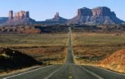 亚利桑那州 通往丰碑谷的公路壁纸 文化之旅地理人文景观壁纸精选 第二辑 人文壁纸