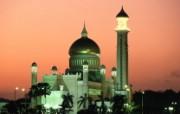汶莱 苏丹奥马尔阿里赛尔夫汀清真寺壁纸 文化之旅地理人文景观壁纸精选 第二辑 人文壁纸