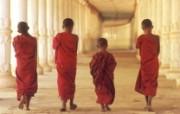 柬埔寨 年幼僧侣壁纸 文化之旅地理人文景观壁纸精选 第二辑 人文壁纸