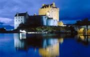 文化之旅 地理人文景观壁纸精选 第一辑 Evening Falls on Eilean Donan Castle Scotland 苏格兰 伊莲豆纳城堡 朵娜堡 图片壁纸 文化之旅地理人文景观一 人文壁纸