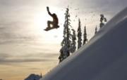 文化之旅 地理人文景观壁纸精选 第一辑 Catching Air in Mount Baker Backcountry Washington 华盛顿贝克山滑雪者图片壁纸 文化之旅地理人文景观一 人文壁纸