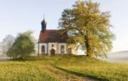 文化之旅 地理人文景观壁纸精选 第一辑 Chapel on the Hill Franconia Bavaria Germany 巴伐利亚 弗兰克尼小礼拜堂图片壁纸 文化之旅地理人文景观一 人文壁纸
