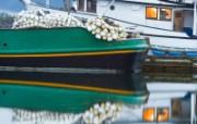 文化之旅 地理人文景观壁纸精选 第一辑 Fishing Boats at Hoonah Alaska 阿拉斯加 胡纳一艘渔船图片壁纸 文化之旅地理人文景观一 人文壁纸