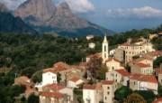 文化之旅 地理人文景观壁纸精选 第一辑 View of Evisa Corsica Island France 法国科西嘉岛 艾维萨小镇图片壁纸 文化之旅地理人文景观一 人文壁纸