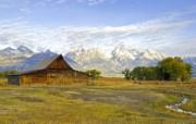 文化之旅 地理人文景观壁纸精选 第一辑 Moulton Barn Grand Teton National Park Wyoming 大提顿国家公园 莫尔顿谷仓图片壁纸 文化之旅地理人文景观一 人文壁纸