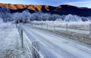 文化之旅 地理人文景观壁纸精选 第一辑 Winter Morning Sparks Lane Cades Cove Great Smoky Mountains National Park Tennessee 田纳西州 大烟山国家公园冬季图片壁纸 文化之旅地理人文景观一 人文壁纸