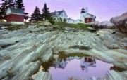 文化之旅 地理人文景观壁纸精选 第一辑 Pemaquid Point Lighthouse Maine 缅因州 沛马奎特灯塔图片壁纸 文化之旅地理人文景观一 人文壁纸