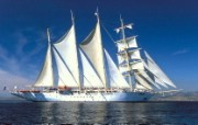文化之旅 地理人文景观壁纸精选 第一辑 Star Flyer Aegean Sea Turkey 土耳其 爱琴海上的游船图片壁纸 文化之旅地理人文景观一 人文壁纸