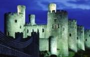 英国威尔士 世界文化遗产康威城堡壁纸 文化之旅地理人文景观一 人文壁纸