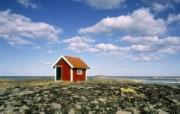 瑞典 波罗的海海岸小屋壁纸 文化之旅地理人文景观一 人文壁纸