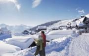 温泉与滑雪 瑞士冬季旅游景点壁纸 Bettmeralp 贝特默尔卑图片壁纸 温泉与滑雪瑞士冬季旅游景点壁纸 人文壁纸
