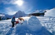 温泉与滑雪 瑞士冬季旅游景点壁纸 Gstaad 格施塔德图片壁纸 温泉与滑雪瑞士冬季旅游景点壁纸 人文壁纸
