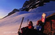 温泉与滑雪 瑞士冬季旅游景点壁纸 Heidmanegg Central Switzerland 瑞士中部雪景图片壁纸 温泉与滑雪瑞士冬季旅游景点壁纸 人文壁纸