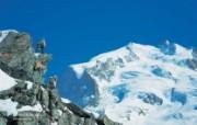 温泉与滑雪 瑞士冬季旅游景点壁纸 Monte Rosa 罗萨峰图片壁纸 温泉与滑雪瑞士冬季旅游景点壁纸 人文壁纸