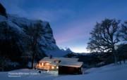 温泉与滑雪 瑞士冬季旅游景点壁纸 Rosenlaui 伯恩高地 格罗森劳伊冰川图片壁纸 温泉与滑雪瑞士冬季旅游景点壁纸 人文壁纸