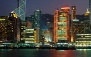 香港海旁夜景壁纸HongKong Travel Hongkong Night View 香港旅游景点壁纸 人文壁纸