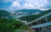 世界最长的室外扶手电梯 香港旅游景点壁纸 人文壁纸