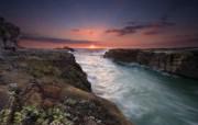天堂之国 新西兰如画风光壁纸 1920 1200 New Zealand Sunset at Muriwai Beach Auckland New Zealand 新西兰风光第二集 人文壁纸