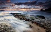 天堂之国 新西兰如画风光壁纸 1920 1200 奥克兰著名沙滩 毛利湾 Maori Bay 壁纸 新西兰风光第二集 人文壁纸