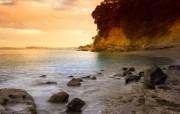 天堂之国 新西兰如画风光壁纸 1920 1200 New Zealand Sunset Beach Auckland New Zealand 新西兰风光第二集 人文壁纸