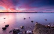 天堂之国 新西兰如画风光壁纸 1920 1200 奥克兰名胜 毛利湾上的日落壁纸 新西兰风光第二集 人文壁纸