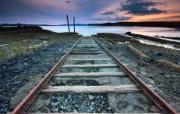 天堂之国 新西兰如画风光壁纸 1920 1200 New Zealand Tracks to Nowhere Onehunga Wharf Auckland New Zealand 新西兰风光第二集 人文壁纸