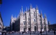 意大利旅游壁纸 意大利哥特式米兰大教堂 Italy Travel Milan Cathedral Photos 意大利城市景观 人文壁纸