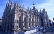 意大利旅游壁纸 意大利哥特式米兰大教堂 Italy Travel Italy Gothic Church 意大利城市景观 人文壁纸