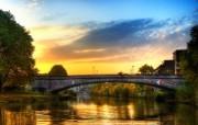 游历德国 萨尔布吕肯城市篇 黄昏古桥 德国Saarbrucken 风景壁纸 游历德国萨尔布吕肯城市篇 人文壁纸
