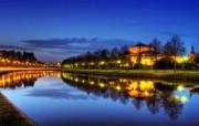 游历德国 萨尔布吕肯城市篇 萨尔河的夜晚 德国Saarbrucken 风景壁纸 游历德国萨尔布吕肯城市篇 人文壁纸