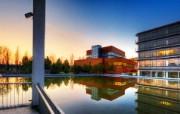 游历德国 萨尔布吕肯城市篇 日落映照的建筑 德国Saarbrucken迷人景观 游历德国萨尔布吕肯城市篇 人文壁纸