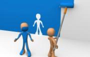 3D商业人物 设计壁纸