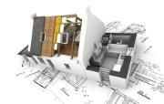 别墅建筑设计立体壁纸 设计壁纸