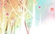 春天气息矢量宽屏壁纸 春天气息矢量宽屏壁纸 设计壁纸
