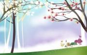 春天气息矢量宽屏壁纸 壁纸2 春天气息矢量宽屏壁纸 设计壁纸