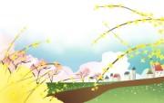 春天气息矢量宽屏壁纸 壁纸9 春天气息矢量宽屏壁纸 设计壁纸