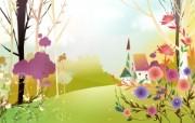 春天气息矢量宽屏壁纸 壁纸12 春天气息矢量宽屏壁纸 设计壁纸