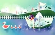 韩国矢量插画 缤纷奇幻乐园宽屏壁纸 壁纸3 韩国矢量插画:缤纷奇 设计壁纸