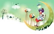 韩国矢量插画 缤纷奇幻乐园宽屏壁纸 壁纸6 韩国矢量插画:缤纷奇 设计壁纸