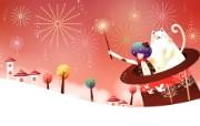 韩国矢量插画 缤纷奇幻乐园宽屏壁纸 壁纸10 韩国矢量插画:缤纷奇 设计壁纸