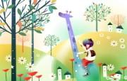 韩国矢量插画 缤纷奇幻乐园宽屏壁纸 壁纸11 韩国矢量插画:缤纷奇 设计壁纸