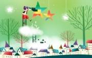 韩国矢量插画 缤纷奇幻乐园宽屏壁纸 壁纸13 韩国矢量插画:缤纷奇 设计壁纸