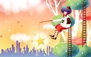 韩国矢量插画 缤纷奇幻乐园宽屏壁纸 壁纸16 韩国矢量插画:缤纷奇 设计壁纸