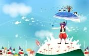 韩国矢量插画 缤纷奇幻乐园宽屏壁纸 壁纸17 韩国矢量插画:缤纷奇 设计壁纸