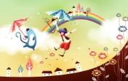 韩国矢量插画 缤纷奇幻乐园宽屏壁纸 壁纸22 韩国矢量插画:缤纷奇 设计壁纸