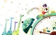 韩国矢量插画 缤纷奇幻乐园宽屏壁纸 壁纸23 韩国矢量插画:缤纷奇 设计壁纸