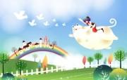 韩国矢量插画 缤纷奇幻乐园宽屏壁纸 壁纸26 韩国矢量插画:缤纷奇 设计壁纸